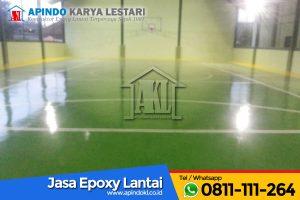 Epoxy Lantai Lapangan Futsal Markas TNI Yon Bekang Jakarta Pusat - 3