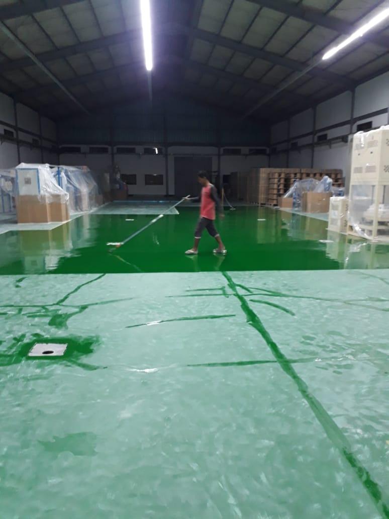 Project Epoxy Lantai CV Boga Amanda Palembang